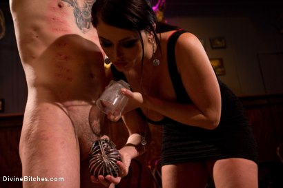 Photo number 10 from Eat your way through his cum to your chastity key, cuck! shot for Divine Bitches on Kink.com. Featuring Bobby Bends, Jessie Sparkles, Sophie Dee, Ramon Soares and Mickey Mod in hardcore BDSM & Fetish porn.