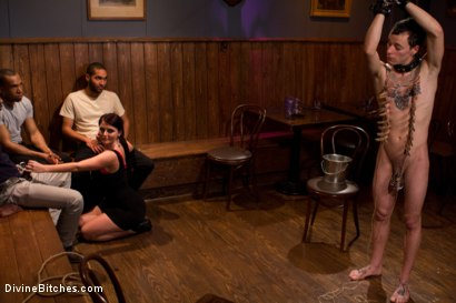 Photo number 4 from Eat your way through his cum to your chastity key, cuck! shot for Divine Bitches on Kink.com. Featuring Bobby Bends, Jessie Sparkles, Sophie Dee, Ramon Soares and Mickey Mod in hardcore BDSM & Fetish porn.