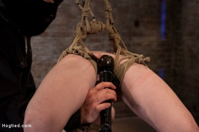 Photo number 8 from Sexy girl next door bound into a brutal back arch from hell.<br>Made to cum like a common slut. shot for Hogtied on Kink.com. Featuring Nicki Blue in hardcore BDSM & Fetish porn.