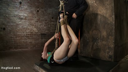 Photo number 1 from 19yr old with huge FF natural breasts is suspended, spanked, gagged<br>made to cum over & over. shot for Hogtied on Kink.com. Featuring Iona Grace in hardcore BDSM & Fetish porn.