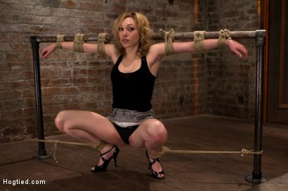 Photo number 3 from Former runway & fashion model is back & helpless   Powerful orgasms are ripped from her sexy pussy. shot for Hogtied on Kink.com. Featuring Lily LaBeau in hardcore BDSM & Fetish porn.
