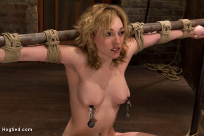 Photo number 6 from Former runway & fashion model is back & helpless   Powerful orgasms are ripped from her sexy pussy. shot for Hogtied on Kink.com. Featuring Lily LaBeau in hardcore BDSM & Fetish porn.