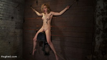 Photo number 13 from With a look of total helplessness is in her eyes, she begs with out saying a word, that is magic. shot for Hogtied on Kink.com. Featuring Lily LaBeau in hardcore BDSM & Fetish porn.
