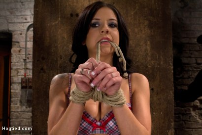 Photo number 6 from Sexy all natural 20yr old with full C breasts does her first Hogtied shoot. <br> Love the cute ones shot for Hogtied on Kink.com. Featuring Tessa Taylor in hardcore BDSM & Fetish porn.