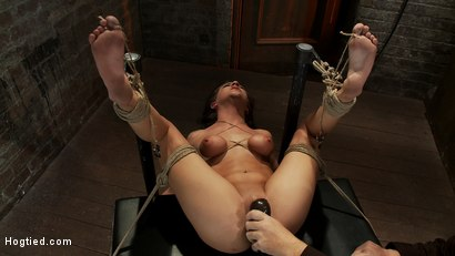 Photo number 10 from Bound on her back, nipples tied to her big toes. Finger fucked to orgasms, vibrated, caned & abused! shot for Hogtied on Kink.com. Featuring Tessa Taylor in hardcore BDSM & Fetish porn.