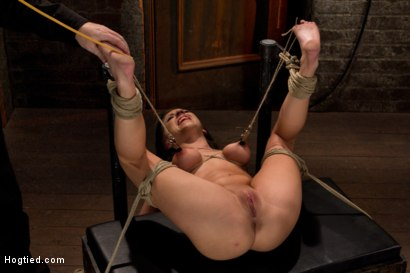 Photo number 15 from Bound on her back, nipples tied to her big toes. Finger fucked to orgasms, vibrated, caned & abused! shot for Hogtied on Kink.com. Featuring Tessa Taylor in hardcore BDSM & Fetish porn.