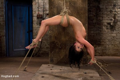 Photo number 1 from Sexy girl next door is bound & suspended, stretched to the limits of the human body<br>So helpless! shot for Hogtied on Kink.com. Featuring Tessa Taylor in hardcore BDSM & Fetish porn.