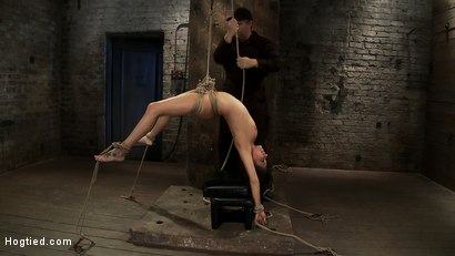 Photo number 8 from Sexy girl next door is bound & suspended, stretched to the limits of the human body<br>So helpless! shot for Hogtied on Kink.com. Featuring Tessa Taylor in hardcore BDSM & Fetish porn.