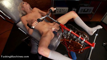 Photo number 12 from 18yr old fresh new girl spreads for the machines in the science lab shot for Fucking Machines on Kink.com. Featuring Layden Sin in hardcore BDSM & Fetish porn.