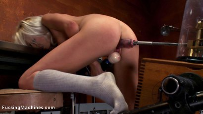 Photo number 6 from 18yr old fresh new girl spreads for the machines in the science lab shot for Fucking Machines on Kink.com. Featuring Layden Sin in hardcore BDSM & Fetish porn.