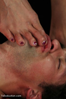 Photo number 14 from Ts Yasmin on a First Date <br> Your Ass Belongs to Her shot for TS Seduction on Kink.com. Featuring DJ and Yasmin Lee in hardcore BDSM & Fetish porn.