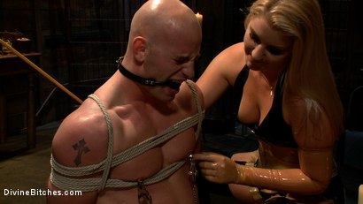 Photo number 15 from Debut Of A New Bitch shot for Divine Bitches on Kink.com. Featuring Patrick Rouge and Ashley Edmonds in hardcore BDSM & Fetish porn.