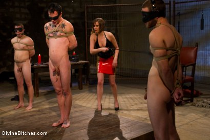 Photo number 10 from New Slaveboy Tryouts LIVE with Maitresse Madeline shot for Divine Bitches on Kink.com. Featuring Maitresse Madeline Marlowe, Jack Thunda, Jesse Carl and Jessie Sparkles in hardcore BDSM & Fetish porn.