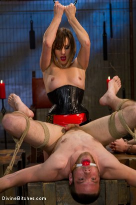 Photo number 13 from New Slaveboy Tryouts LIVE with Maitresse Madeline shot for Divine Bitches on Kink.com. Featuring Maitresse Madeline Marlowe , Jack Thunda, Jesse Carl and Jessie Sparkles in hardcore BDSM & Fetish porn.