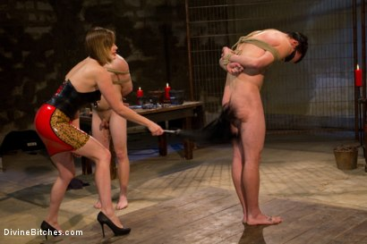 Photo number 2 from New Slaveboy Tryouts LIVE with Maitresse Madeline shot for Divine Bitches on Kink.com. Featuring Maitresse Madeline Marlowe , Jack Thunda, Jesse Carl and Jessie Sparkles in hardcore BDSM & Fetish porn.