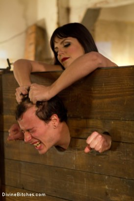 Photo number 12 from Breaking The Boy: Episode 1 shot for Divine Bitches on Kink.com. Featuring Bobbi Starr and Jessie Sparkles in hardcore BDSM & Fetish porn.