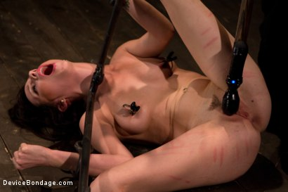 Photo number 4 from Petite Brunette is Bound, Vibed and Denied shot for Device Bondage on Kink.com. Featuring Lindy Lane in hardcore BDSM & Fetish porn.