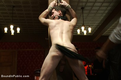 Photo number 7 from Partygoers beat and skull fuck a big dick stud in bondage.  shot for Bound in Public on Kink.com. Featuring Josh West and CJ in hardcore BDSM & Fetish porn.