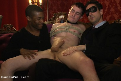 Photo number 6 from Partygoers beat and skull fuck a big dick stud in bondage.  shot for Bound in Public on Kink.com. Featuring Josh West and CJ in hardcore BDSM & Fetish porn.
