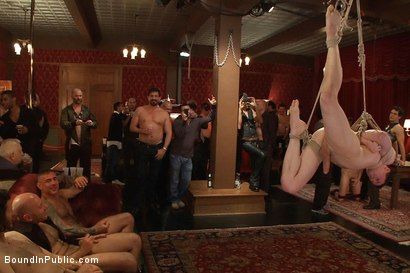Photo number 11 from Partygoers beat and skull fuck a big dick stud in bondage.  shot for Bound in Public on Kink.com. Featuring Josh West and CJ in hardcore BDSM & Fetish porn.