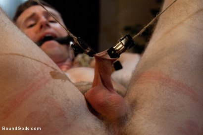 Photo number 11 from Bad Biker and a Daddy's Boy shot for Bound Gods on Kink.com. Featuring Troy Daniels and Cliff Jensen in hardcore BDSM & Fetish porn.