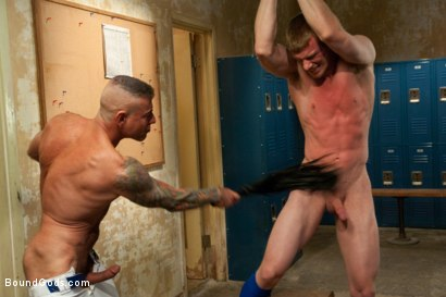 Photo number 7 from Innocent baseball jock gets violated by his nasty coach. shot for Bound Gods on Kink.com. Featuring Nick Moretti and Blake Daniels in hardcore BDSM & Fetish porn.