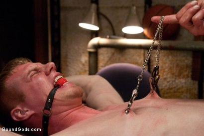 Photo number 11 from Innocent baseball jock gets violated by his nasty coach. shot for Bound Gods on Kink.com. Featuring Nick Moretti and Blake Daniels in hardcore BDSM & Fetish porn.