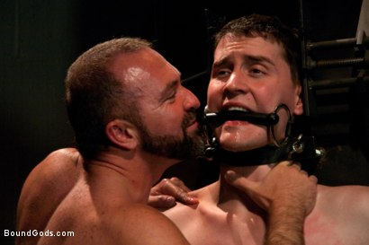 Photo number 9 from The Sex Addict with a nine inch cock is back and he's acquired new powers! shot for Bound Gods on Kink.com. Featuring CJ and Josh West in hardcore BDSM & Fetish porn.