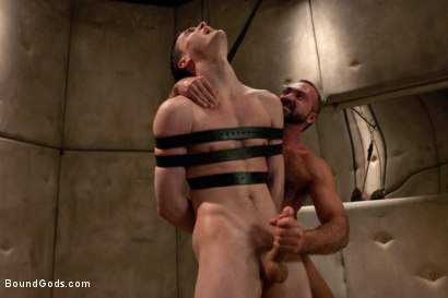 Photo number 14 from The Sex Addict with a nine inch cock is back and he's acquired new powers! shot for Bound Gods on Kink.com. Featuring CJ and Josh West in hardcore BDSM & Fetish porn.