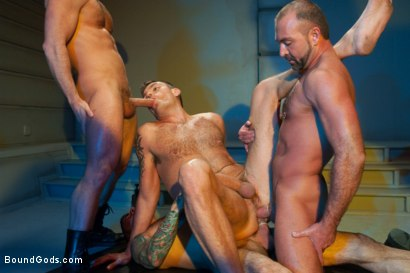 Photo number 11 from Taken and Probed shot for Bound Gods on Kink.com. Featuring Nick Moretti, Josh West, Tristan Jaxx and Lance Navarro in hardcore BDSM & Fetish porn.