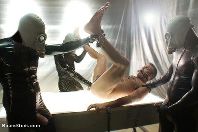Photo number 9 from Taken and Probed shot for Bound Gods on Kink.com. Featuring Nick Moretti, Josh West, Tristan Jaxx and Lance Navarro in hardcore BDSM & Fetish porn.