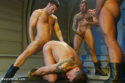 Photo number 14 from Taken and Probed shot for Bound Gods on Kink.com. Featuring Nick Moretti, Josh West, Tristan Jaxx and Lance Navarro in hardcore BDSM & Fetish porn.