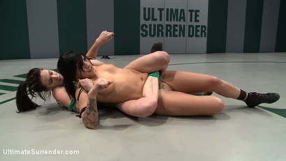 Photo number 3 from Tori Lux gets her ass kicked by smaller girl!<br>Made to submit to the tinier more aggressive girl! shot for Ultimate Surrender on Kink.com. Featuring Tori Lux and Aiden Ashley in hardcore BDSM & Fetish porn.