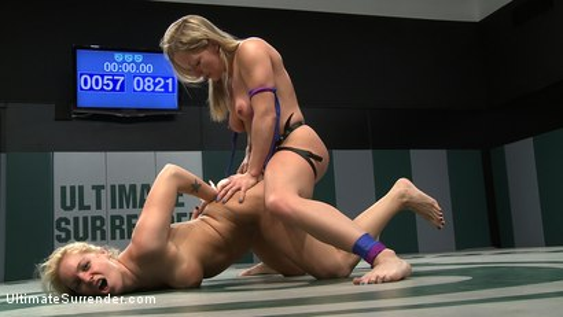 Photo number 14 from 2 blond Amazons battle.<br>Smaller girl destroys bigger. Fingers her on the mat then fucks her. shot for Ultimate Surrender on Kink.com. Featuring Hollie Stevens and Dia Zerva in hardcore BDSM & Fetish porn.