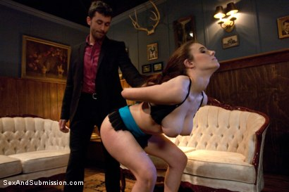 Photo number 3 from Gentlemen's Club Audition shot for Sex And Submission on Kink.com. Featuring James Deen and Iona Grace in hardcore BDSM & Fetish porn.