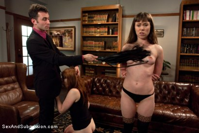 Photo number 4 from Behaved and Determined shot for Sex And Submission on Kink.com. Featuring James Deen, Violet Monroe and Seda in hardcore BDSM & Fetish porn.