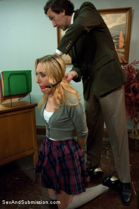 Photo number 2 from The Good Old Methods shot for Sex And Submission on Kink.com. Featuring Steve Holmes, Sarah Vandella and Emma Haize in hardcore BDSM & Fetish porn.