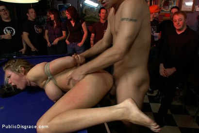Photo number 8 from Rain Degrey Cums Like a Demon in a Crowded Bar shot for Public Disgrace on Kink.com. Featuring Rain DeGrey, Mr. Pete and Princess Donna Dolore in hardcore BDSM & Fetish porn.