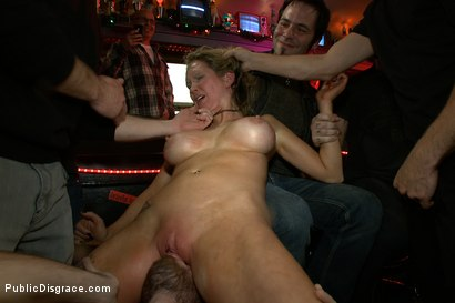 Photo number 2 from Rain Degrey Cums Like a Demon in a Crowded Bar shot for Public Disgrace on Kink.com. Featuring Rain DeGrey, Mr. Pete and Princess Donna Dolore in hardcore BDSM & Fetish porn.
