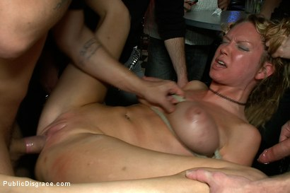 Photo number 6 from Rain Degrey Cums Like a Demon in a Crowded Bar shot for Public Disgrace on Kink.com. Featuring Rain DeGrey, Mr. Pete and Princess Donna Dolore in hardcore BDSM & Fetish porn.