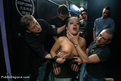 Photo number 14 from Latina Cutie With a Big Round Ass gets Dominated and Fucked in Public by Strangers shot for Public Disgrace on Kink.com. Featuring James Deen, Jynx Maze and Princess Donna Dolore in hardcore BDSM & Fetish porn.