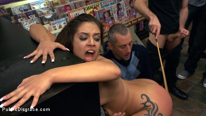 Photo number 10 from Latina Cutie With a Big Round Ass gets Dominated and Fucked in Public by Strangers shot for Public Disgrace on Kink.com. Featuring James Deen, Jynx Maze and Princess Donna Dolore in hardcore BDSM & Fetish porn.