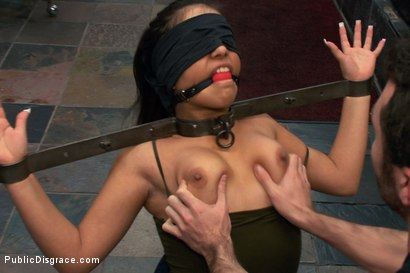 Photo number 1 from Latina Cutie With a Big Round Ass gets Dominated and Fucked in Public by Strangers shot for Public Disgrace on Kink.com. Featuring James Deen, Jynx Maze and Princess Donna Dolore in hardcore BDSM & Fetish porn.