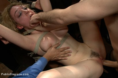 Photo number 11 from Gorgeous 20 Year old Blonde Fucked and Degraded shot for Public Disgrace on Kink.com. Featuring Lily LaBeau, James Deen and Princess Donna Dolore in hardcore BDSM & Fetish porn.