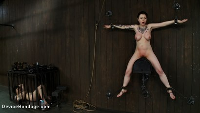 Photo number 7 from Big Titty Sybian Riding Slut wears Gas Mask shot for Device Bondage on Kink.com. Featuring Juliette March and Ruby Reaper in hardcore BDSM & Fetish porn.