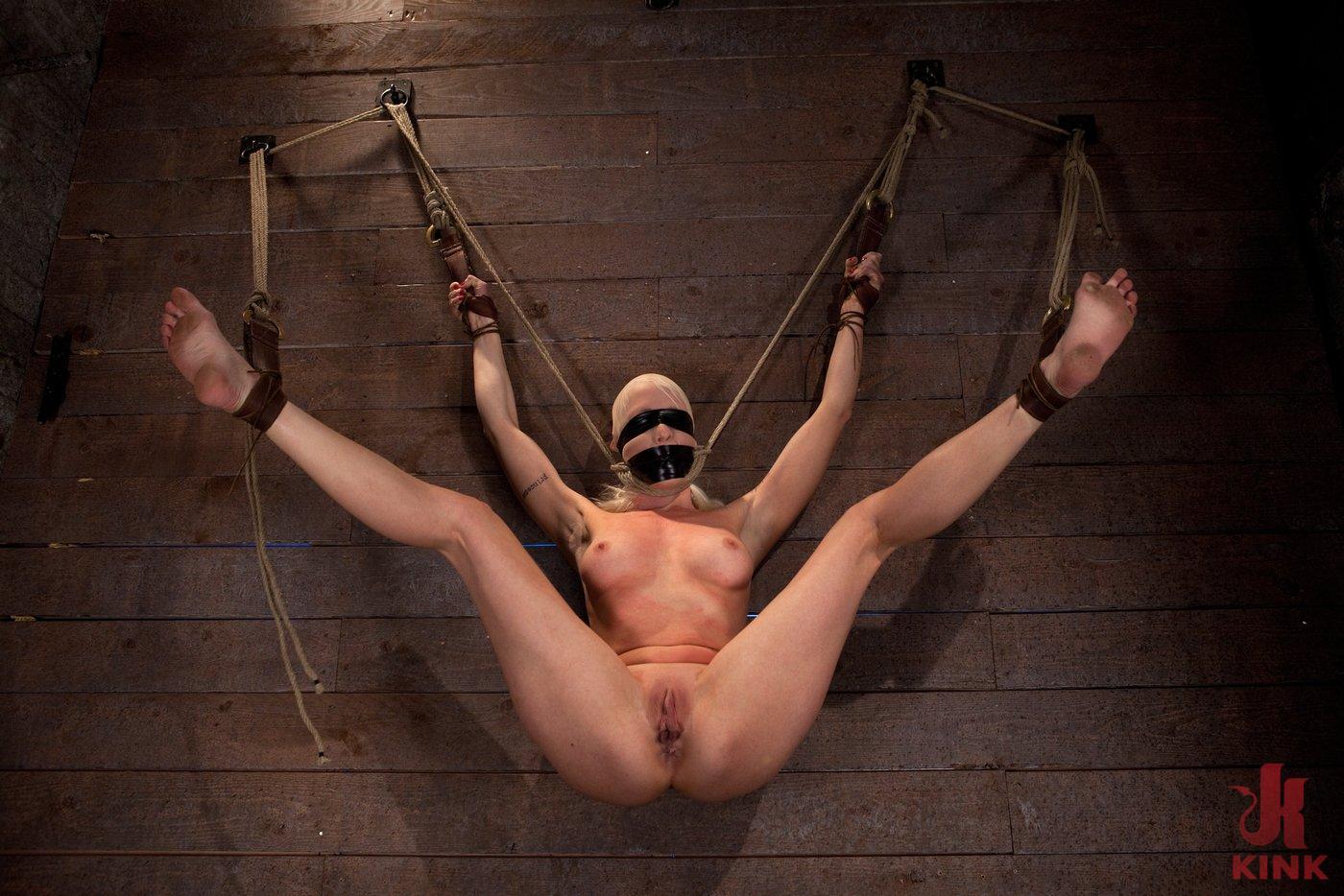Nude legs around neck