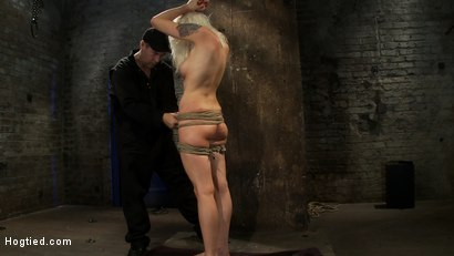 Photo number 1 from Lorelei is bound on screen, brutally fucked by Isis Love in a back breaking Category 5 suspension. shot for hogtied on Kink.com. Featuring Lorelei Lee and Isis Love in hardcore BDSM & Fetish porn.