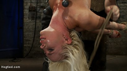 Photo number 6 from Lorelei is bound on screen, brutally fucked by Isis Love in a back breaking Category 5 suspension. shot for hogtied on Kink.com. Featuring Lorelei Lee and Isis Love in hardcore BDSM & Fetish porn.