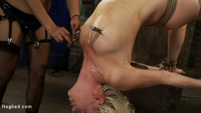 Photo number 5 from Lorelei is bound on screen, brutally fucked by Isis Love in a back breaking Category 5 suspension. shot for Hogtied on Kink.com. Featuring Lorelei Lee and Isis Love in hardcore BDSM & Fetish porn.