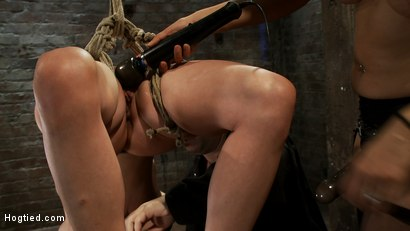 Photo number 7 from Lorelei is bound on screen, brutally fucked by Isis Love in a back breaking Category 5 suspension. shot for Hogtied on Kink.com. Featuring Lorelei Lee and Isis Love in hardcore BDSM & Fetish porn.